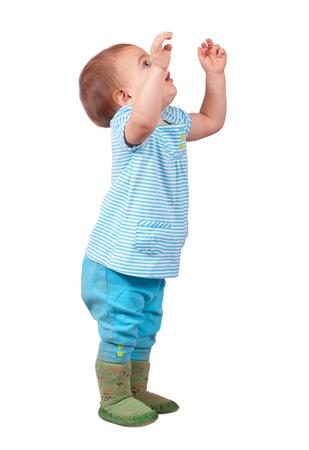 tir pleine longueur d'un petit enfant dans les actifs