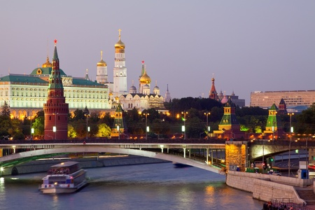 View of Moscow Kremlin in dusk. Russia Stock Photo - 12434900