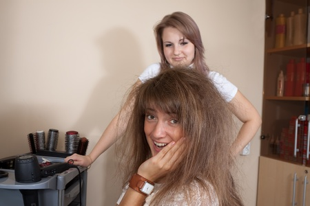 Women at the hair salon situation Stock Photo - 12434915
