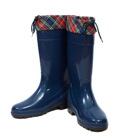 welly:  waterproof wellington boots. Isolated on  white background  Stock Photo