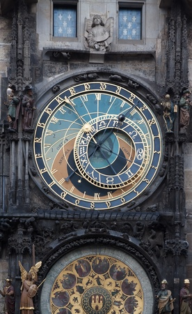 Medieval Astronomical Clock in the Old Town hall of Prague.  Czech Republic Stock Photo - 12612895