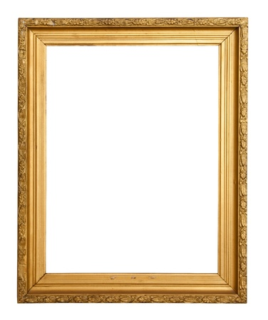 gold frame: Classic gold frame. Isolated over white background with clipping path