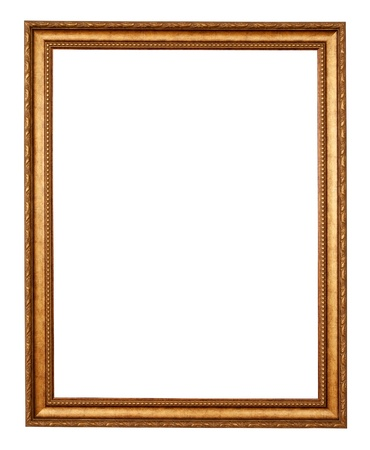 gold frame. Isolated over white background with clipping path photo