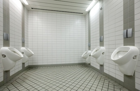 Few white urinals in toilet Stock Photo - 12616601