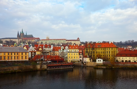 Morning view of Prague from Vltava. Czech Republic  Stock Photo - 12591508