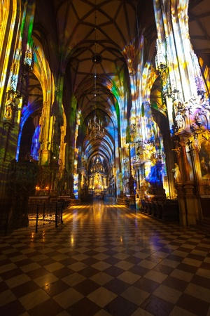 Interior of St. Stephens Cathedral.  Vienna, Austria