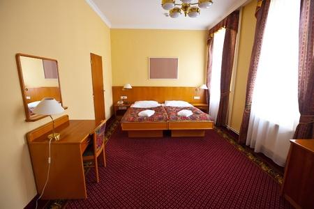 roomservice: interior of  bedroom of luxury hotel suite