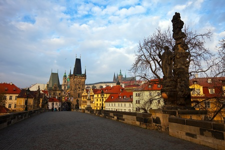 Day view of  Charles bridge. Prague, Czech Republic Stock Photo - 12793852