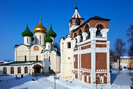 Saviour-Euthimiev monastery at Suzdal in winter. Russia photo