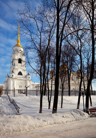Assumption cathedral  at Vladimir in winter, Russia. Constructed between 1158�1160 photo