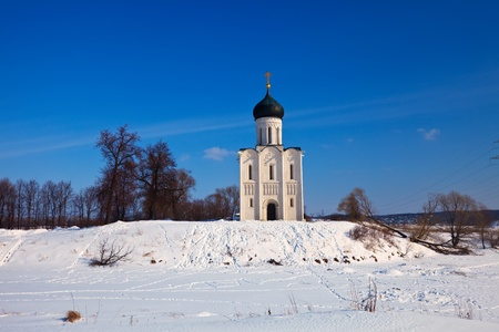 Church of the Intercession on the River Nerl in winter. Russia Stock Photo - 12791596