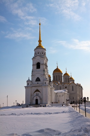 Uspenskiy cathedral  at Vladimir in winter, Russia. Constructed between 1158�1160 photo