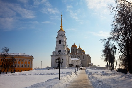 Dormition Cathedral in Vladimir, constructed between 1158�1160. Russia  photo