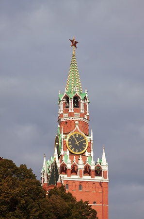 Clock tower in Moscow Kremlin. Moscow, Russia  photo