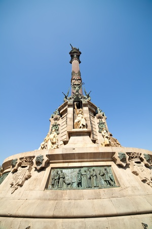 Statue of Christopher Columbus, Barcelona  Spain photo