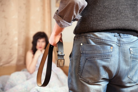 adult rape: Married couple having quarrel about adultery