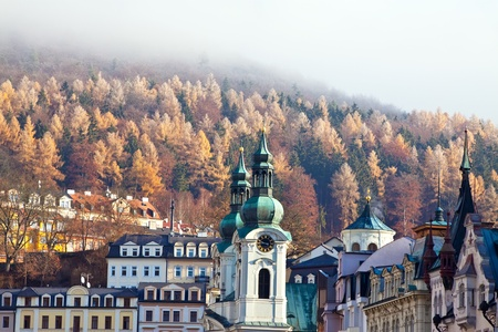 carlsbad: View of Karlovy Vary  Czech Republic