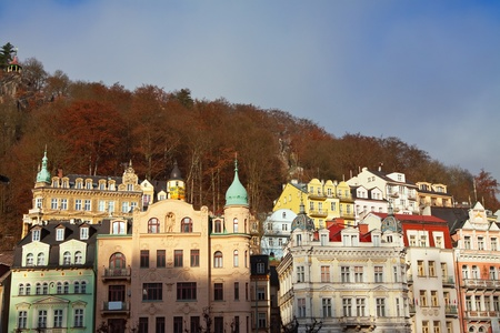 View of Karlovy Vary  Czech Republic  photo
