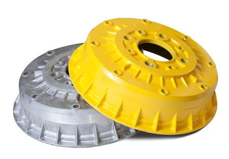 auto brake wheels. Isolated on white with clipping path photo