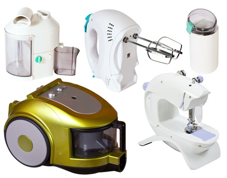 Set of  household appliances. Isolated on white background Stock Photo - 13086537