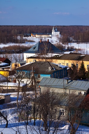 view of Gorokhovets in winter. Russia photo
