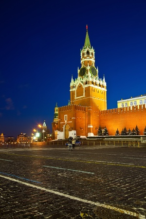 Spasskaya Tower of Moscow Kremlin at Red Square in Moscow. Russia Stock Photo - 13086943