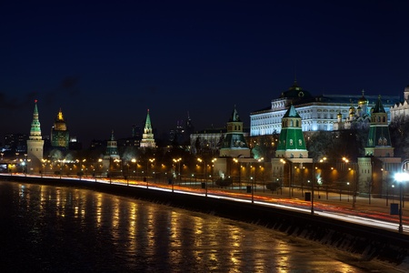 View of Moscow Kremlin in winter night. Russia Stock Photo - 13086973