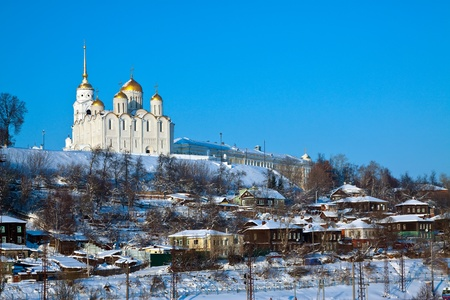 klyazma: Kind of downtown of  Vladimir city in winter