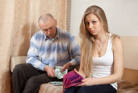Financial problems have a husband and wife photo