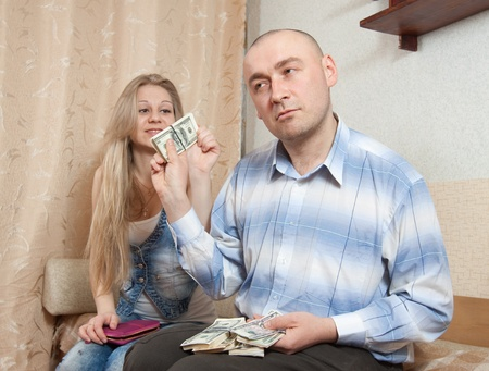 covetous: Quarrel in the family due to lack of money
