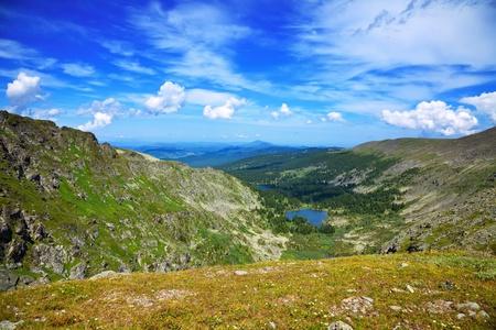 Top view of Karakol lakes in Altai mountains.   Suberia, Russia Stok Fotoğraf