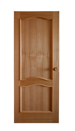 New wooden door. Isolated over white background Stock Photo - 13201210