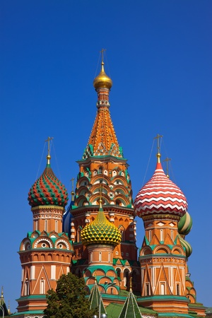 red square moscow: Intercession Cathedral at Red Square. Moscow, Russia Stock Photo