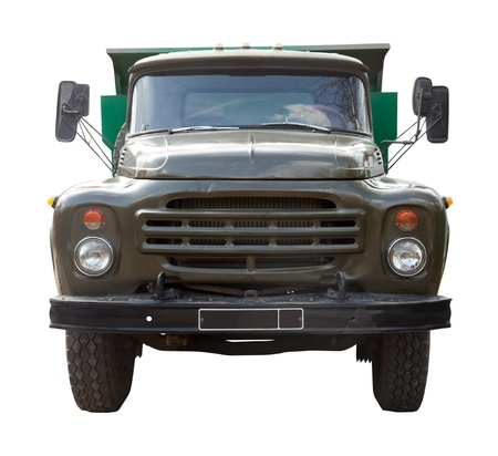 Vintage Soviet truck. Isolated over white background Stock Photo - 13361010