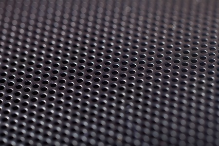 metal hole background (Closeup of speaker) photo