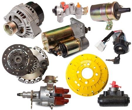 auto parts: Set of auto parts. Isolated on white background