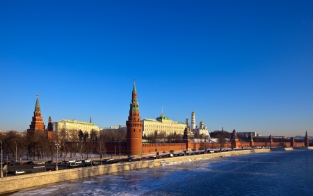 View of Moscow Kremlin in winter day. Russia Stock Photo - 13624837