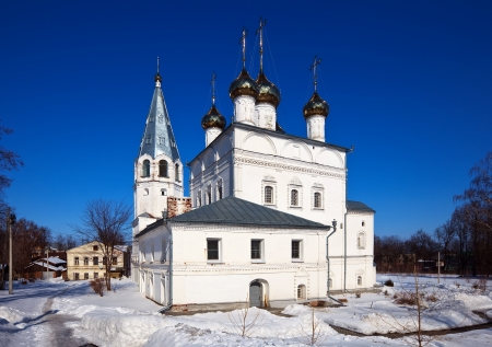 build in: Cathedral of the Annunciation (build in 1683-1689)  at Vyazniki in winter. Russia