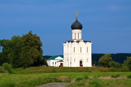 Church of the Intercession on River Nerl was constructed between 1158�1165. Russia  Stock Photo - 13624809