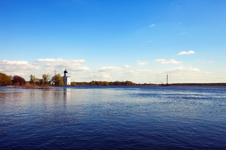 Church of the Intercession on the River Nerl in spring  flood Stock Photo - 13679433