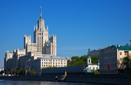 kotelnicheskaya embankment: Kotelnicheskaya Embankment Building  was build in 1947- 1952   Moscow, Russia