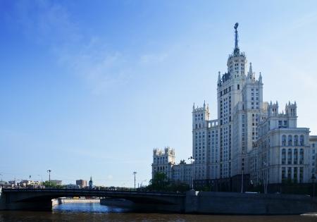 stalin empire style: Kotelnicheskaya Embankment Building - symbol of Moscow Stalin