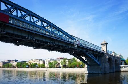View of Moscow. Andreyevsky Bridge  and  Pushkinsky Pedestrian Bridge  photo