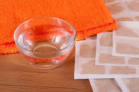 sinapism  with towel and water is ready for use Stock Photo - 13750445