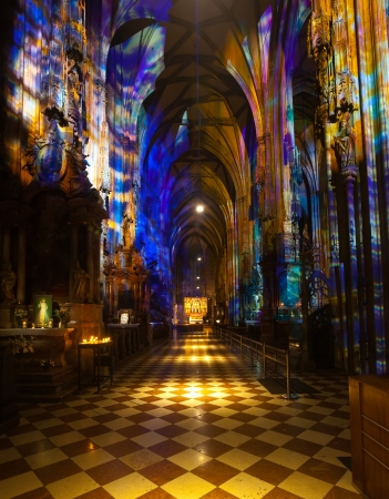 Interior of St. Stephen's Cathedral.  Vienna, Austria  Stock Photo - 17069330