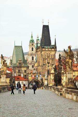 Day view of  Charles bridge. Prague, Czech Republic  photo