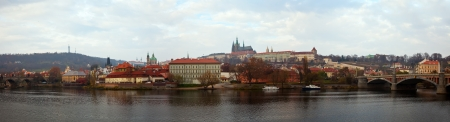Panoramic view of Prague, Czechia  Stock Photo - 13907620