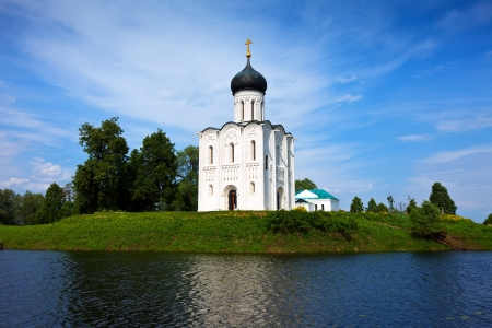 Church of the Intercession on the River Nerl in summer Stock Photo - 13987220