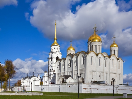 assumption: Assumption cathedral  at Vladimir in autumn (Russia) Stock Photo