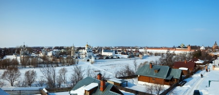 Panoramic view of Suzdal in winter  Russia Stock Photo - 13987218